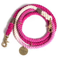 Ombre Rope Dog Leash Magenta