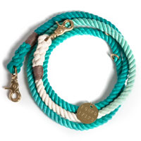 Ombre Rope Dog Leash Teal
