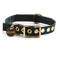 Black Watch Canvas Dog Collar